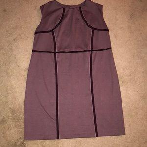 Pretty purple wear to work dress